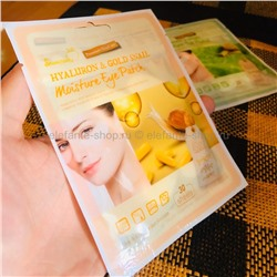 Тканевые патчи под глаза SkinАpple Hyaluron & Gold Snail Moisture Eye Patch (78)